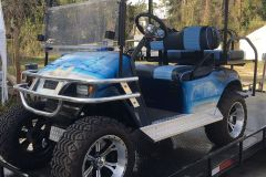 4-passenger electric lifted painted